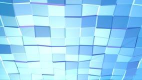 Poli superficie bassa viola blu semplice astratta 3D come fondo di CG Poli fondo basso geometrico molle di moto di spostamento royalty illustrazione gratis