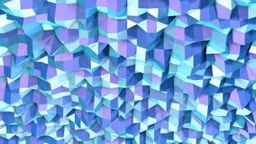 Poli superficie bassa viola blu semplice astratta 3D come fondo di complessità Poli fondo basso geometrico molle di moto di royalty illustrazione gratis