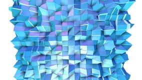 Poli superficie bassa viola blu semplice astratta 3D come fondo di modo Poli fondo basso geometrico molle di moto di illustrazione vettoriale