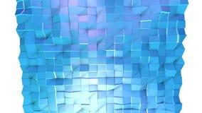 Poli superficie bassa viola blu semplice astratta 3D come fondo futuristico Poli fondo basso geometrico molle di moto di illustrazione vettoriale