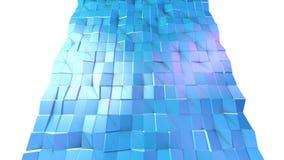 Poli superficie bassa viola blu semplice astratta 3D come fondo molecolare Poli fondo basso geometrico molle di moto di royalty illustrazione gratis