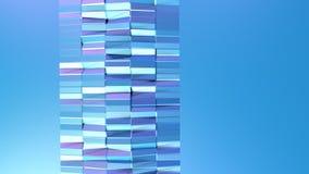 Poli superficie bassa viola blu semplice astratta 3D come griglia di cristallo Poli fondo basso geometrico molle di moto con puro royalty illustrazione gratis