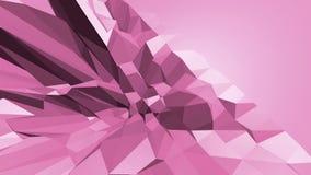 Poli superficie d'ondeggiamento bassa ottimistica o rosa come ambiente di fantasia Ambiente di vibrazione geometrico poligonale r illustrazione vettoriale
