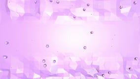 Poli superficie d'ondeggiamento bassa viola come contesto popolare Ambiente di vibrazione geometrico viola o fondo di palpitazion royalty illustrazione gratis