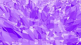 Poli superficie d'ondeggiamento bassa viola come fondo alla moda 3D Ambiente di vibrazione geometrico viola o fondo di palpitazio illustrazione vettoriale