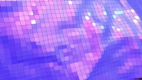 Poli superficie d'ondeggiamento bassa viola come fondo creativo Ambiente di vibrazione geometrico viola o fondo di palpitazione d illustrazione vettoriale