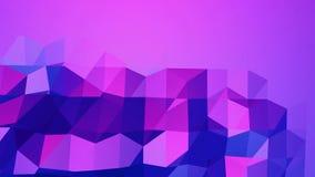 Poli superficie d'ondeggiamento bassa viola come fondo di CG Ambiente di vibrazione geometrico viola o fondo di palpitazione dent royalty illustrazione gratis