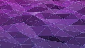 Poli superficie d'ondeggiamento bassa viola o porpora illustrazione di stock