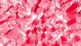 Poli superficie d'oscillazione bassa ottimistica o rosa come contesto del fumetto Ambiente di vibrazione geometrico poligonale ro illustrazione vettoriale