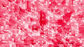 Poli superficie d'oscillazione bassa ottimistica o rosa come fondo moderno del fumetto Ambiente di vibrazione geometrico poligona illustrazione vettoriale