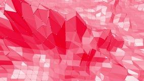 Poli superficie d'oscillazione bassa ottimistica o rosa come struttura dell'atomo Ambiente di vibrazione rosso del mosaico poligo royalty illustrazione gratis