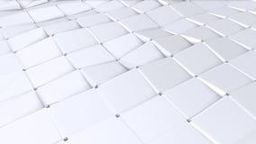Poli superficie ondulata bassa semplice 3D come fondo d'avanguardia Poli fondo basso geometrico molle dei poligoni grigi bianchi  illustrazione di stock