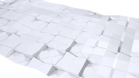 Poli superficie ondulata bassa semplice 3D come fondo corporativo Poli fondo basso geometrico molle dei poligoni grigi bianchi pu royalty illustrazione gratis