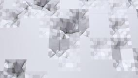 Poli superficie ondulata bassa semplice 3D come fondo creativo Poli fondo basso geometrico molle dei poligoni grigi bianchi puri illustrazione di stock