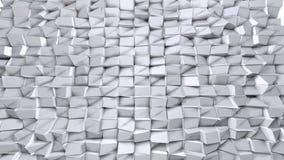 Poli superficie ondulata bassa semplice 3D come fondo elegante Poli fondo basso geometrico molle dei poligoni grigi bianchi puri royalty illustrazione gratis