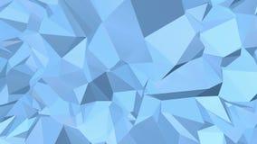 Poli superficie in vibrazione bassa blu come contesto luminoso Ambiente di vibrazione geometrico poligonale blu o palpitare illustrazione vettoriale