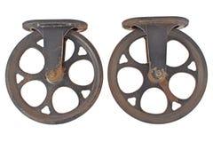 Polia dois oxidada velha imagens de stock royalty free