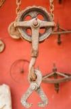 Polia metálica oxidada velha Fotos de Stock Royalty Free