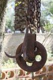 A polia oxidada velha Imagens de Stock