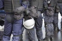 Policía antidisturbios Imágenes de archivo libres de regalías