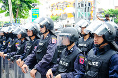 Policía antidisturbios Imagenes de archivo