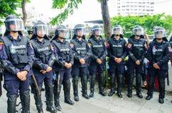 Policía antidisturbios Foto de archivo