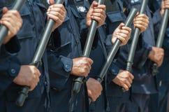 Policía antidisturbios fotos de archivo