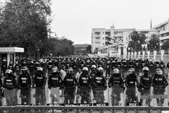 Policía antidisturbios Foto de archivo libre de regalías