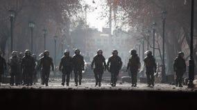 Policía antidisturbios almacen de video