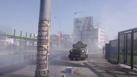 Policía antidisturbios, Chile almacen de metraje de vídeo