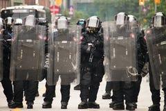 Policía antidisturbios G20 Imágenes de archivo libres de regalías