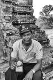 Policía camboyano fotos de archivo