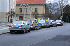 Policía checa foto de archivo