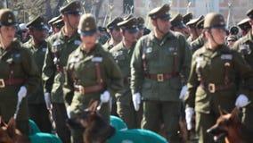 Policía chilena en un desfile