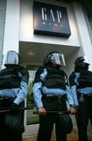 Policía de alboroto Foto de archivo libre de regalías