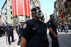 Policía de alboroto turca Fotografía de archivo