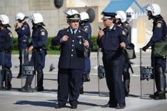 Policía de Grecia foto de archivo libre de regalías