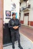 Policía de la calle de ciudad de Panamá Fotografía de archivo