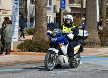 Policía de la motocicleta Fotos de archivo