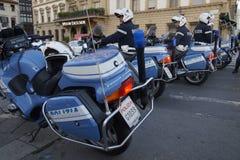 Policía de la motocicleta Fotos de archivo libres de regalías