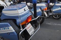 Policía de la motocicleta Fotografía de archivo