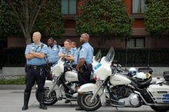 Policía de la motocicleta, Washington DC Foto de archivo