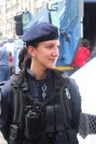 Policía de la mujer Imagen de archivo libre de regalías