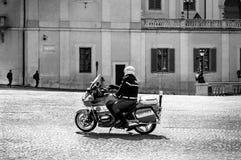Policía de motocicleta Foto de archivo libre de regalías