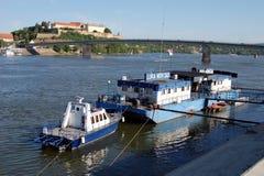 Policía de río Novi Sad Fotos de archivo libres de regalías