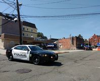Policía de Teaneck en el Rutherford, New Jersey, los E.E.U.U. Imagen de archivo