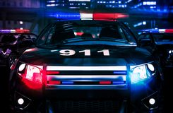 Policía en concepto de la acción Imagen de archivo