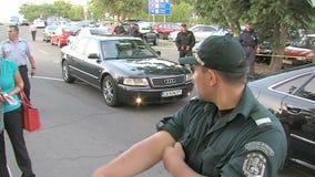 Policía en el aeropuerto búlgaro Burgas
