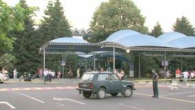 Policía en el aeropuerto Burgas, Bulgaria