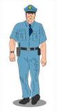 Policía en el golpe ilustración del vector